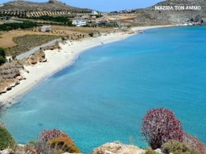 Παραλία στου Μαζίδα τον άμμο: υπέροχη παραλία με λευκή άμμο & πολύ ρηχά νερά. Ιδανική για παιδιά