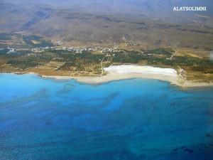 Plage Alatsolimni: une plage unique, avec sable fin & des eaux cristallines peu profondes